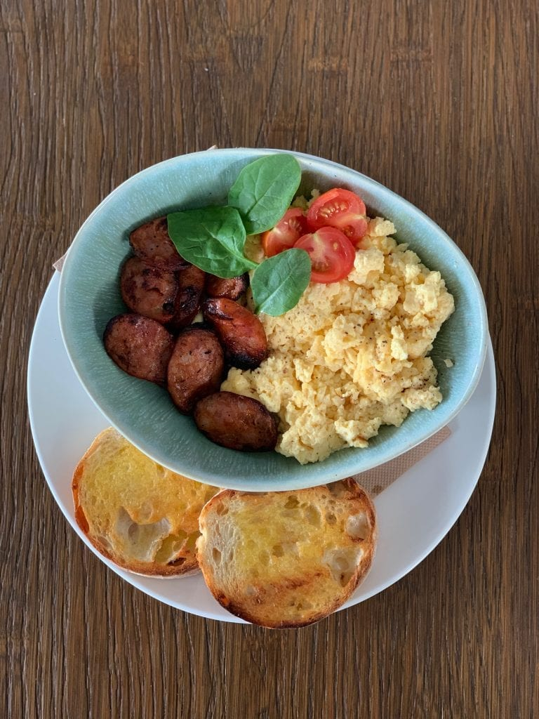 Scrambled Eggs with Chorizo @ The Hangar
